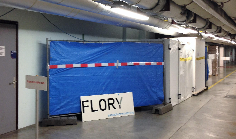 Prefab containment inclusief afzetting voor sanering koorden tunnel ziekenhuis