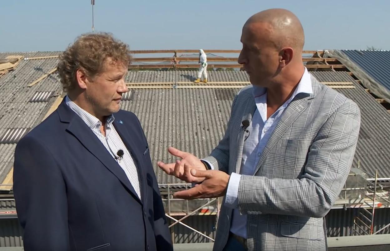 Still uit filmpje over Asbestverwijdering Flory op RTL7